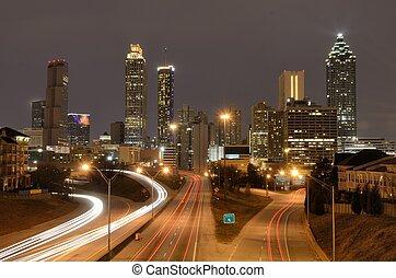 Atlanta Skyline - The skyline of Atlanta, Georgia above...