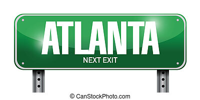 atlanta street sign illustration design