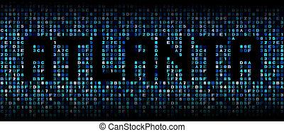 Atlanta text on hex code illustration