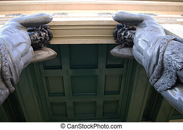 Atlantes holding a roof