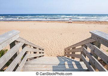atlanti-, belépés, tengerpart