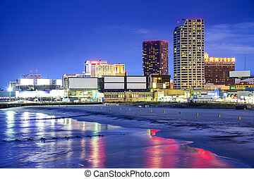 Atlantic City, New Jersey Cityscape - Atlantic City, New...