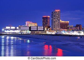 Atlantic City - ATLANTIC CITY, NJ - SEPTEMBER 8: Casinos on...
