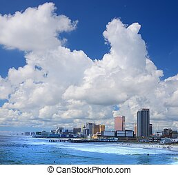 Atlantic City - ATLANTIC CITY, NJ - SEPTEMBER 9: Casinos on...