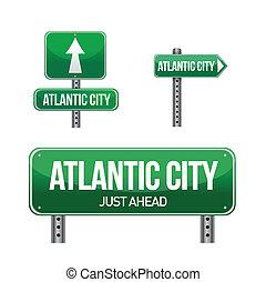 Atlantic city road sign