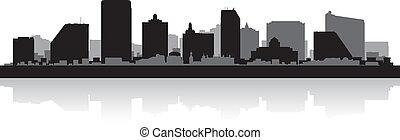 Atlantic city skyline silhouette - Atlantic city USA skyline...