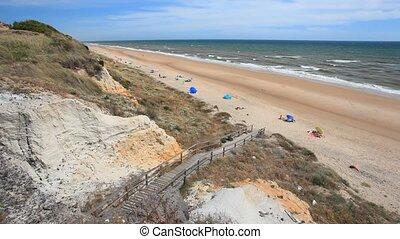 Atlantic coast in Andalusia, Spain
