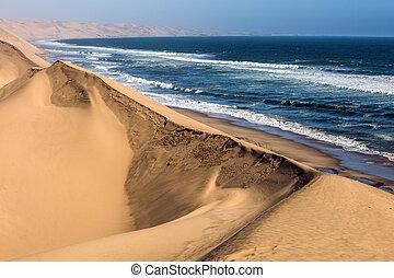 Atlantic coast of Walvis Bay, Namibia
