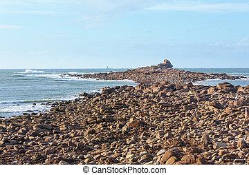 Atlantic coast spring view.