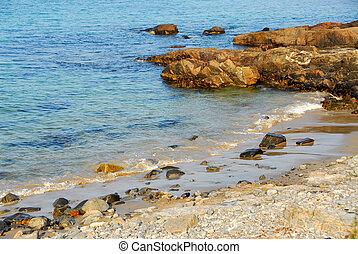 Atlantic coast - Rocks at Atlantic ocean coast in Maine