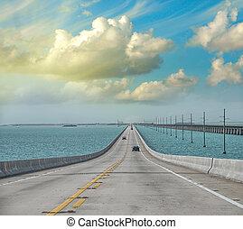 Atlantic intracoastal and highway us1. Florida Keys...