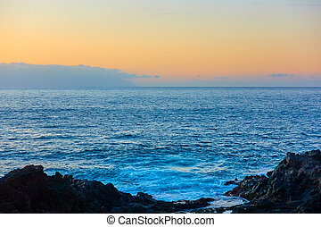 Atlantic Ocean at sunset
