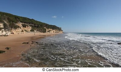 Atlantic ocean beach on the Costa de la Luz, Andalusia, Spain