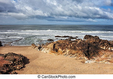 Atlantic Ocean Coast at Foz do Douro in Porto