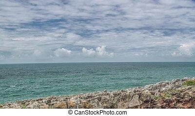 Atlantic ocean coast (granite boulders and sea cliffs), Portugal.