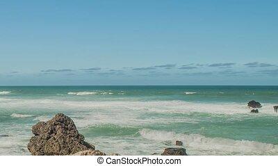 Atlantic ocean coast (granite boulders and sea cliffs),...