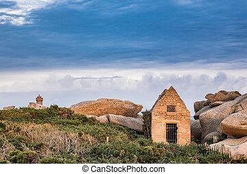 Atlantic ocean coast in Brittany
