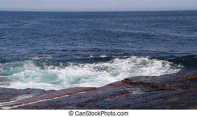 Atlantic Ocean - Atlantic ocean waves crashing on rocks.