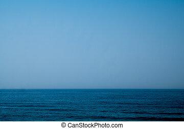 Atlantic ocean in Portugal - A calm Atlantic ocean with a...