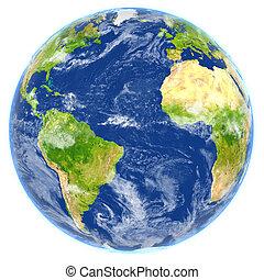Atlantic Ocean on planet Earth