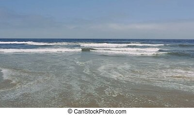 Atlantic ocean sandy beach