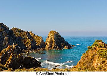 Atlantic Ocean - Rocky Coast of Atlantic Ocean in Portugal