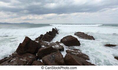 Atlantic Ocean storm.