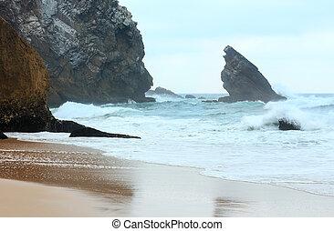 Atlantic ocean storm, Portugal.