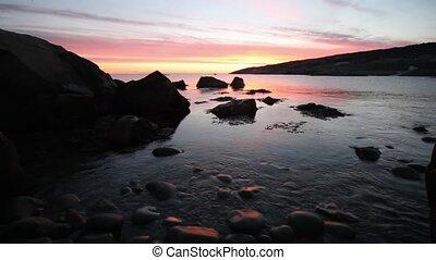 Atlantic Ocean Sunrise - Atlantic Canada coastline at...