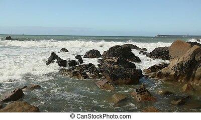 Atlantic ocean surf splash