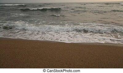 Atlantic ocean surf splashes
