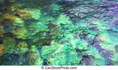 Atlantic ocean water and rocks - clear and trasparent...