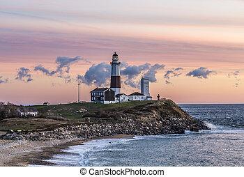 Montauk Point Light, Lighthouse, Long Island, New York, ...