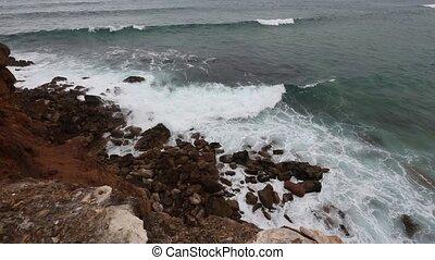 Atlantic rocky coast, Algarve, Portugal.