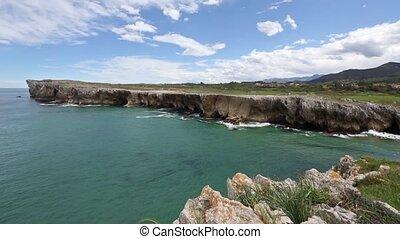 Atlantic rocky coast view, Spain. - Atlantic rocky coast...