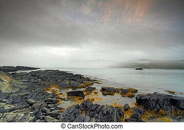 Atlantic Seascape - Early morning fog along the Atlantic...