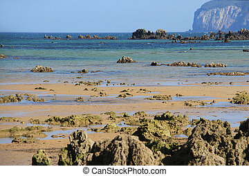 Atlantic shore of Cantabria, Spain, the Bay of Biscay.