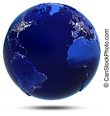 atlantico, continente, e, paesi