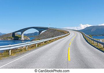 atlantico, strada, in, norvegia