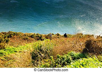atlantique, couvert, océan, irlande