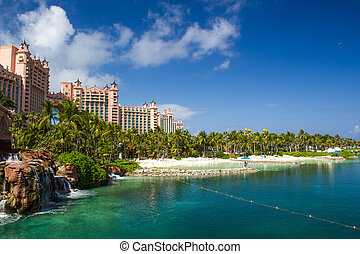 atlantis, hotel, op, paradijs eiland, in, nassau