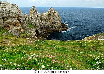 atlantische , bretagne, kust