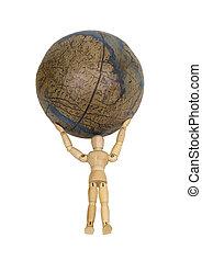 Atlas holds the world