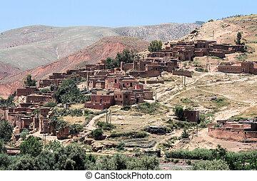 Atlas mountain hill town