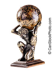 Atlas - a sculpture of the mythic Atlas holding the world...