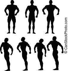 atleci, komplet, bodybuilders