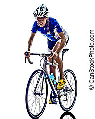 atleet, triathlon, cycling, vrouw, fietser, ironman