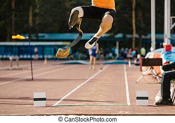 atlet, amputerad, prosthetic ben