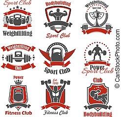 atlet, sport, bodybuilder, vægt, ikon