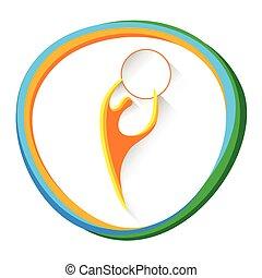 atleta, concorrenza, ginnastica, artistico, sport, icona